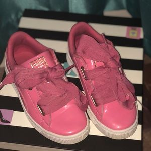 Puma Basket Pink Tennis Shoes